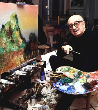 Jean Camberoque dans son atelier en 1993